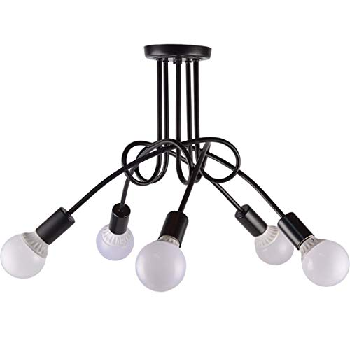 Zceillamp Moderne Ceiling Lights Creative Pendant Leuchten 5 * E27 Bulb Entangled Steel Wire Design-Cafe Bar Loft Bedroom Living Room Lighting Decoration Lampe -