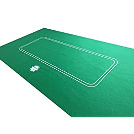 NEW 6FT LARGE POKER CASINO FELT BAIZE LAYOUT – TEXAS HOLDEM