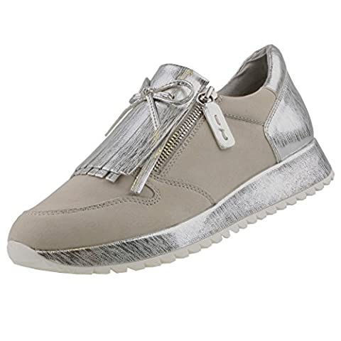 TAMARIS Damen Halbschuhe Grau/Silber, Schuhgröße:EUR 37