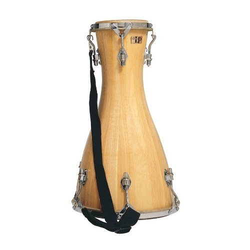 """LP Latin Percussion Bata Drum Large-Lya 6,5\"""" + 12,5\"""" Naturfell, Siam Oak, Chrom-Hardware, mit Nylontragegurt, Stimmschlüssel und Stimmöl, LP490-AWC, Handtrommel, Drum; Drum Circles, Djembe, Bechertrommel"""