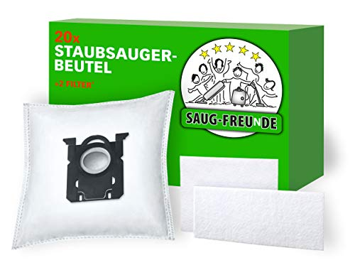 SAUG-FREUnDE | 20 Staubsaugerbeutel für PHILIPS Performer Compact Baureihe: FC8370/09, FC8371/09, FC8372/09, FC8373/09, FC8374/09, FC8375/09, FC8377/09, FC8379/09, kompatibel PHILIPS S-BAG FC8021/03