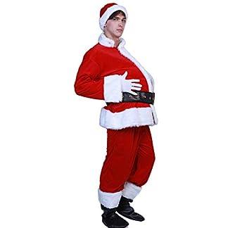 Disfraz de Papá Noel para el vientre de la cerveza del estómago embarazada, para hombre