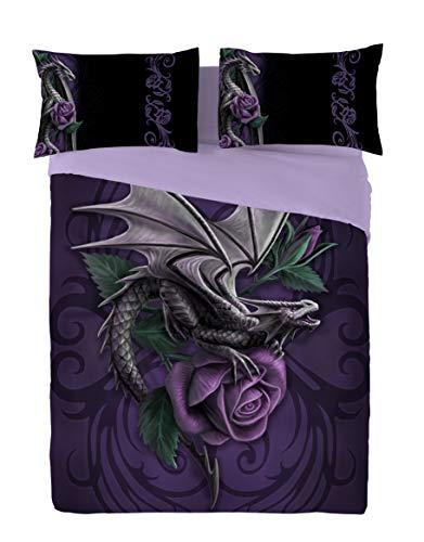 Dragon Beauty Doppelbett Bettbezug und Kissenbezüge Bettwäsche Set Artwork von Anne Stokes