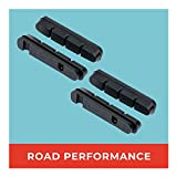 Road - Pastillas de Freno de Repuesto, 2 Pares, 55 mm, Ideales para Carreras, Gomas de Freno Intercambiables, Pastillas de Freno duraderas y Ajustadas