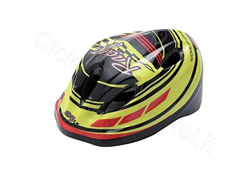 'Helm Helm 'Racing für Kinder/Mädchen–Kopfumfang 48–54cm–Farbe gelb/schwarz