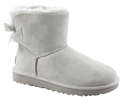 UGG MINI BAILEY BOW II Stiefel 2018 grey violet, 41 (Womens Uggs Boots Bailey Bow)