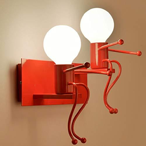 Design moderne enfants chambre lampe murale apparence unique LED nuit lumière chevet bureau lampe de lecture lampe lumière rouge double têtes