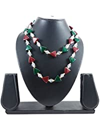 Luxaim Traditional Multicolour Beaded Long Necklace For Girls, Women, Ladies With Crystal Stone, New Party Wear...