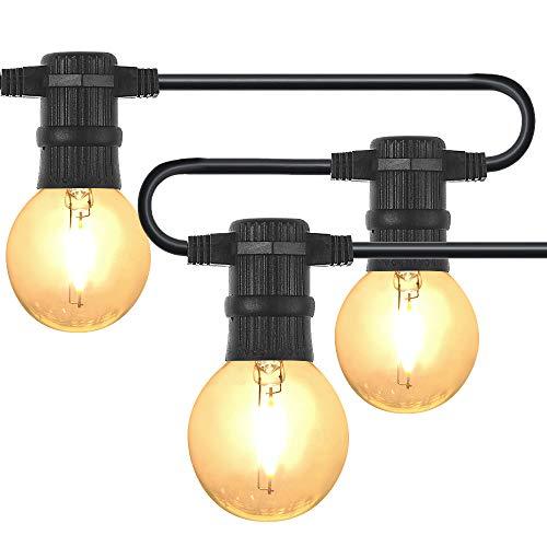 25er LED Lichterkette mit Garten Außen- und Innenbereich 25 ft Warmweiß, End-to-End - CE Listed...