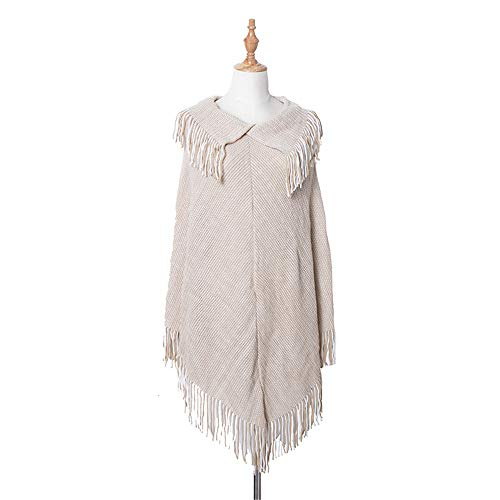 Duhongmei123 Schal Damen Acrylschal Warmer Mantel für Herbst und Winter, Mode-Accessoires (Farbe : Beige)