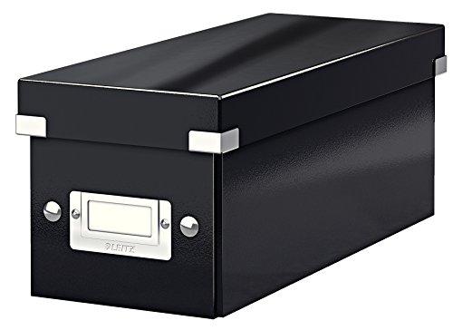 Leitz CD Aufbewahrungsbox, Schwarz, Mit Deckel, Click & Store, 60410095 (Storage Container 24 X 24)