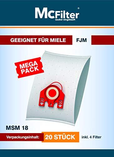 Lot de 20 sacs d'aspirateur pour Miele série Compact C2 + filtre für Compact C2 Silence EcoLine