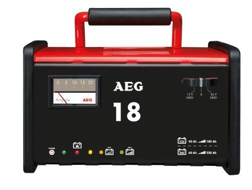 AEG Automotive 97010 Cargador de Taller WM 18 A para Baterías de 12 y 24 V , CE, IP 20