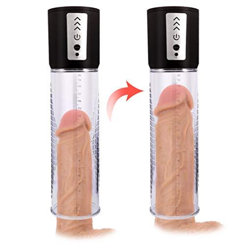 Bombas para el pene en sexo y sensualidad de Vacío Automático se utiliza para Alargador del Pene, Bomba Pene USB Recargar, Eyaculación Precoz