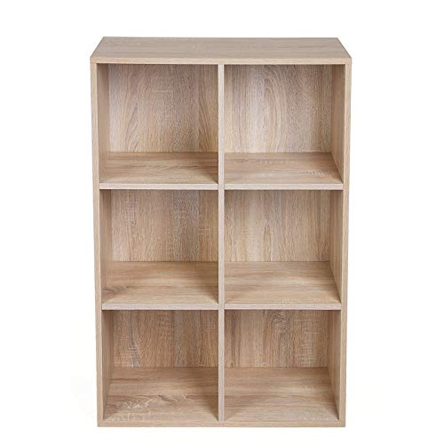 Vasagle Meuble De Rangement Bibliothèque étagère De 6 Casiers Rayonnage Grande Capacité Pour Salon Chambre Bureau 65 5 X 30 5 X 97 5 Cm L Xlx
