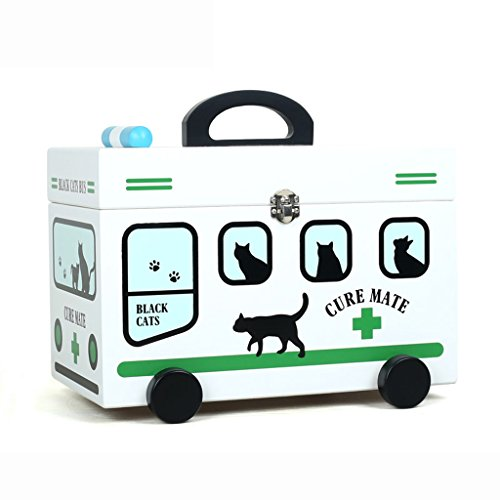 MMM Boîte de rangement Drug Accueil Medicine Baby Box Children First Box Aid Box Family Medical Petit Medicine Box Bois