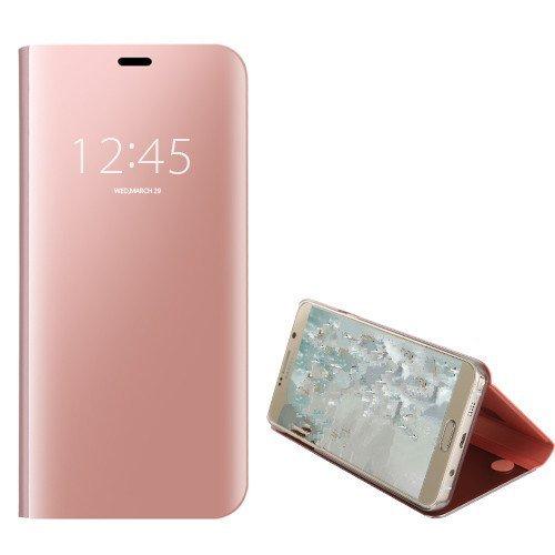 FANFO Xiaomi Redmi Note 6 Pro Funda - Modelo Inteligente Fecha/Hora Ver Espejo Brillante tirón del Caso Duro con para el Xiaomi Redmi Note 6 Pro, Oro Rosa