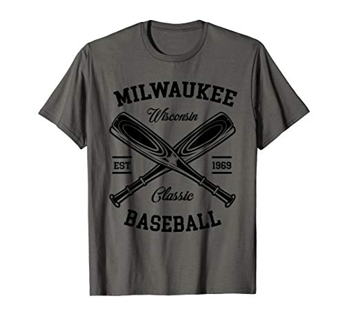 Milwaukee Baseball, Classic Vintage Wisconsin Retro Gift T-Shirt - Wisconsin Gelben T-shirt