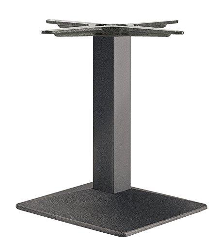 Säulen-Tischgestell Tischfuß eckig Möbelfuß höhen-verstellbar Tischbein schwarz - Modell EES 500 | Höhe 500 mm | Tisch-Gestell mit verstellbaren Bodengleiter | Möbelbeschläge von GedoTec