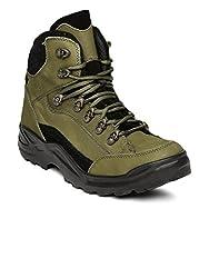 Franco Leone Mens Olive Boots - 6 UK/India (40 EU)(9916-N)