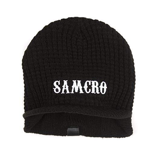 Sons Of Anarchy Samcro Logo Knit Visor Beanie Hat