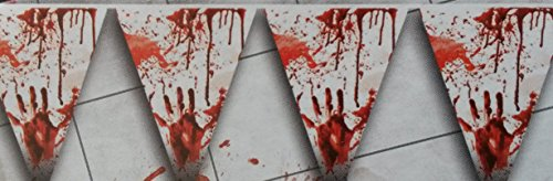 Armee Boy Kostüm (Girlande Halloween Blut Vampir 5 Meter vom Sachsen)