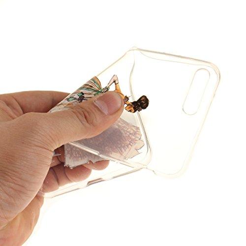 Felfy Coque pour iPhone 7 Plus,iPhone 7 Plus Case,iPhone 7 Plus Ultra Slim TPU Case Housse Silicone Souple Etui Gel Fine Couverture Arrière Anti Poussières Couvercle Anti Rayures Motif Transparent Cas Robe Peinte à la Main
