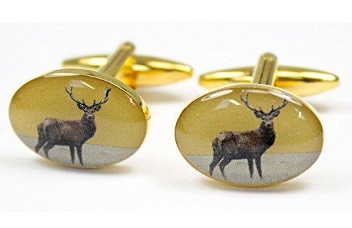 Soprano-Coppia di gemelli a forma di cervo,