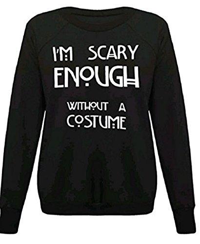 ween-Skelett , figurbetontes Kleid Leggings Bodysuit plus EUR Größe 36-54 (S/M (EUR 36-38), Im beängstigend genug, auch ohne Kostüm schwarz Sweatshirt-) (Scary Skelett Halloween Kostüme)