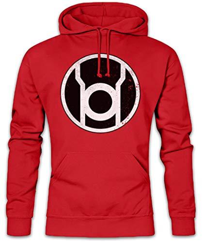 The Big Red Lantern Bang Theory Logo Hoodie Kapuzenpullover Sweatshirt - Sheldon TBBT Nerd TV Cooper Green Größen S - 3XL -