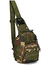 36f24b4d4f6b6 Leoie 5L Canvas Cycling Tactical Chest Bag Outdoor Sports Crossbody Single  Shoulder Pack
