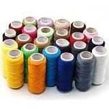 24bobinas de hilo de coser de calidad multiusos 100% puro hilo de algodón Carrete