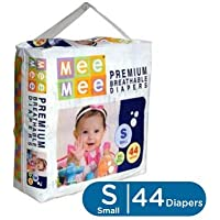 Mee Mee Premium Small Size Diapers (White, 44 Count)