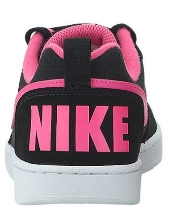 Nike Court Borough Low (Gs), Scarpe da Basket Bambina Black (nero / rosa Blast)