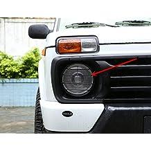 Pegatinas para faros delanteros, de cromo y ABS, de carbono