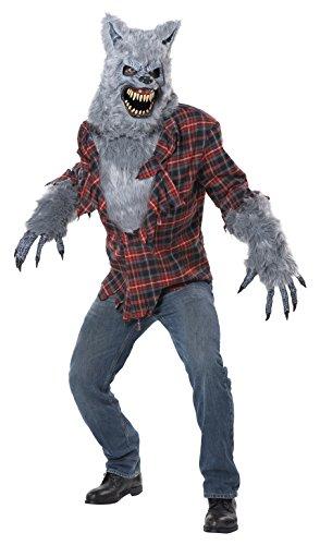 Costume halloween / carnevale da lupo mannaro licantropo grigio – orrore uomo small/medium