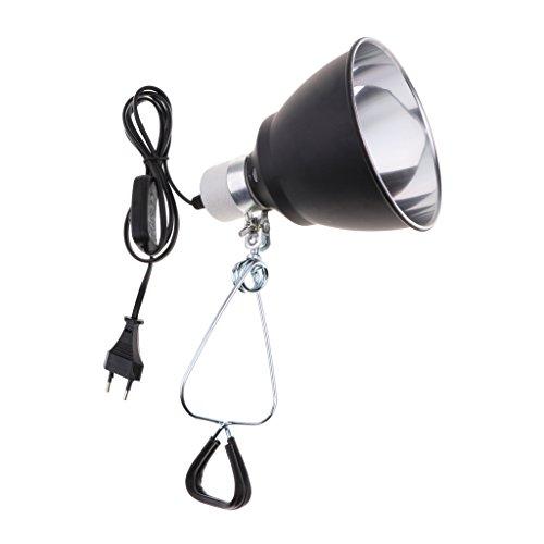 D DOLITY 220V-240V Lampenfassung E27 mit Kabel und Schalter für Reptilien Lampen, Halogenlampe, Infrarotstrahler, UVA Licht, usw.