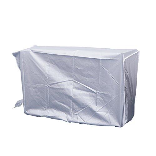 Vorcool climatizzatore copertura impermeabile polvere crema solare esterno aria condizionata protector (argento)