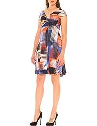 89ed277a678a Vestito Donna in Jersey Stretch Fantasia con Drappeggi
