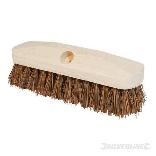 Traditionelle Outdoor-deck (Bauunternehmer Besen Köpfe Deck Scrub Pinsel 228mm (22,9cm) Heavy Duty, traditionelle Schrubben Bürste geeignet für Outdoor Anwendungen. Aus Gummi Holz Material mit Stiff Bassine-Borsten. Kompatibel mit Besen Griff (571525).)