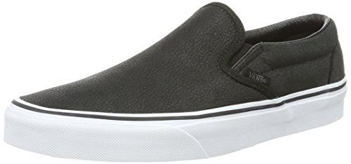 Vans Classic Slip-On- Sneaker Unisex Adulto, colore Nero (Premium Leather), taglia 44 EU