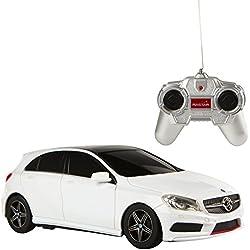 Rastar - Coche teledirigido 1:24, Mercedes Benz Clase A, color blanco (ColorBaby 85051)