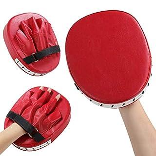 Queta Pratzen Trainerpratzen Kickboxen Boxen 1 Paar Pratzen für Muay Thai Kickboxen Karate Taekwondo Martial Arts (Rot)