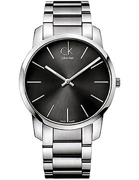 Calvin Klein Herren-Armbanduhr City Analog Quarz Edelstahl K2G21161