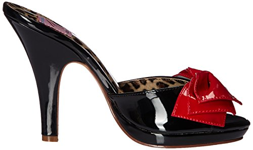 Pin Up Couture - Siren-06, Scarpe con plateau Donna Black (Blk-Red Pat)