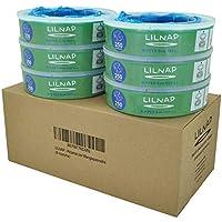 LILNAP - Nachfüllkassetten für Angelcare Windeleimer   Mehrschichtiges Material   Antibakterielle Folie für maximalen Geruchsschutz