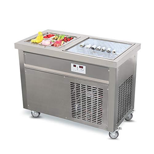 Kolice certificato ce emc embraco compressore singolo quadrato padella soffriggere gelato ice cream macchina rotolo roll macchina ghiaccio macchina per il gelato fritto