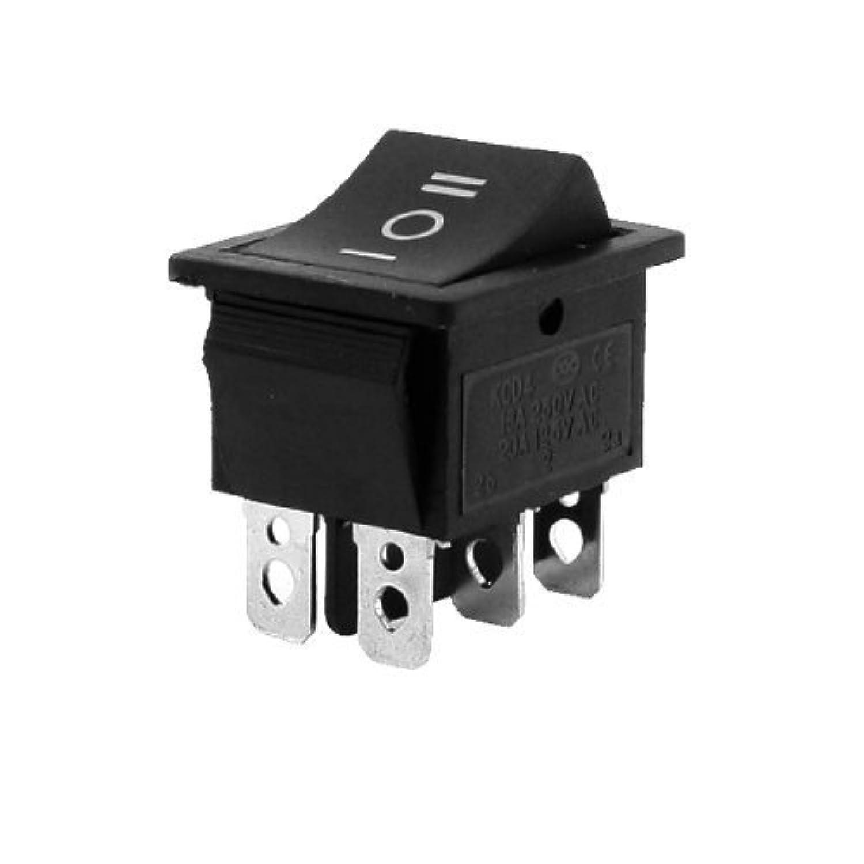 R SODIAL argent AC 250V//10 a 125V//15 a DPDT 3 Position ON//OFF//ON 6 broches commutateur a bascule noir Interrupteur a bascule