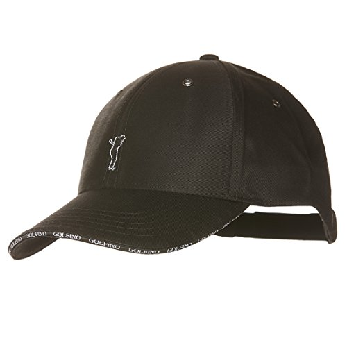 golfino-herren-golfcap-aus-feiner-baumwolle-schwarz-one-size