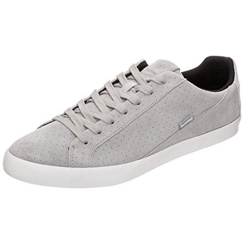 hummel Unisex-Erwachsene Cross Court Suede Sneaker, Grau/Weiß, 36 EU -